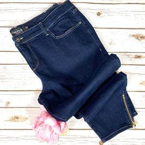 Torrid Dark Wash Stiletto Skinny Embellished Jeans